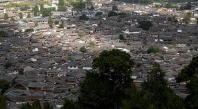 Lijiang panorama. Panorama of the old town Lijiang in yunnan province,china Royalty Free Stock Photo