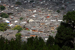 Lijiang panorama. Panorama of the old town Lijiang in yunnan province,china Royalty Free Stock Photography
