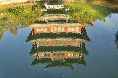 Lijiang pavilion reflection. Yunnan, China Stock Images