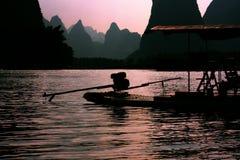 Lijiang and rafts Royalty Free Stock Photo