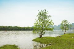 Lijiang River on both sides of the pastoral scenery Royalty Free Stock Photos