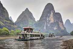 Lijiang River Cruise from Guilin to Yangshuo, Guangxi, southern Stock Image