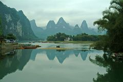 Lijiang River in Guilin scenery Stock Photo