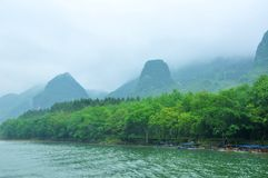 Lijiang River i Guilin Arkivfoto