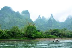 Lijiang River i Guilin Royaltyfria Foton