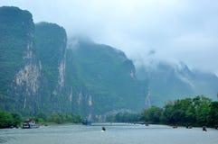 Lijiang River i Guilin Arkivbilder