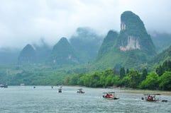 Lijiang River i Guilin Arkivfoton