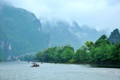 Lijiang River i Guilin Royaltyfria Bilder