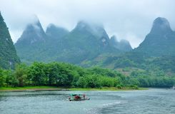 Lijiang River i Guilin Royaltyfri Bild