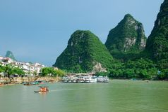 Lijiang River landscape in Guilin,China Royalty Free Stock Photo