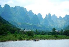 Lijiang River landskap i Guilin, Kina Arkivfoto