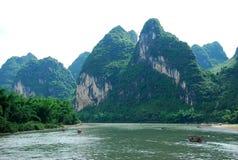 Lijiang River landskap i Guilin, Kina Arkivfoton