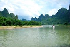 Lijiang River landskap i Guilin, Kina Arkivbild