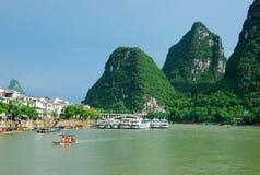 Lijiang River landskap i Guilin, Kina Royaltyfri Foto
