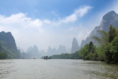 Lijiang river in misty and cloud Stock Image