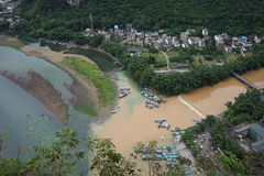 The Lijiang River after the rain Stock Photography