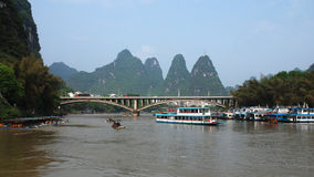 The lijiang river scenery Royalty Free Stock Photo