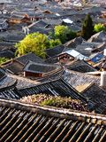 Lijiang roof. Hundreds of roofs of residence house in LiJiang, a smalll town in YunNan Province, China stock photos