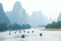 Lijiang scenery. The landscape of Lijiang River in Guangxi, China stock image
