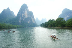 Lijiang scenery. The landscape of Lijiang River in Guangxi,China royalty free stock photo