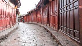 Lijiang stare grodzkie ulicy w ranku, Yunnan prowincja, Chiny zbiory wideo
