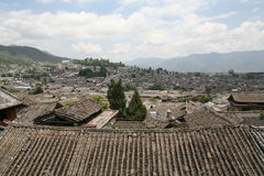 Lijiang. Traditional village of the town Lijiang in China stock photos