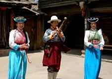 Lijiang Twp, China: Het Presteren van de Musici van Naxi royalty-vrije stock foto