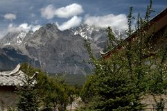 Lijiang Twp, China: Jade Dragon Snow Mountain Royalty Free Stock Photo