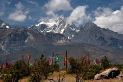 Lijiang Twp, China: Jade Dragon Snow Mountain Royalty Free Stock Image