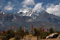 Lijiang Twp, China: Montanha da neve do dragão do jade Imagem de Stock Royalty Free