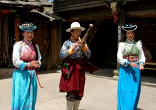 Lijiang Twp, China: Naxi Musicians Performing Royalty Free Stock Photo