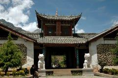 Lijiang Twp, Chiny: Kamienna Ju Wioska Zhu Qing Tian Zdjęcia Stock