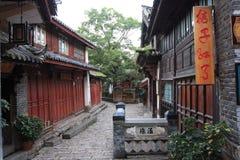 Lijiang, une belle petite ville dans la porcelaine Image libre de droits