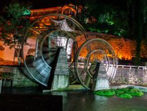 Lijiang water mill Stock Photo
