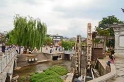 Lijiang water mill Royalty Free Stock Image
