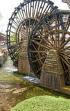 Lijiang Water Wheels. The famous water wheels at the entrance to Old Town Lijiang in Yunnan province, China royalty free stock photography