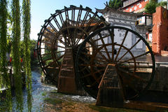 Lijiang Water Wheels Royalty Free Stock Images