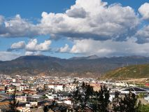 Красивый вид в городке Lijiang старом Yunan, Китай Стоковая Фотография