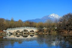 Lijiang ,Yunnan,China. The Black dragon pool,Shangri-la ,Lijiang ,Yunnan,China royalty free stock images