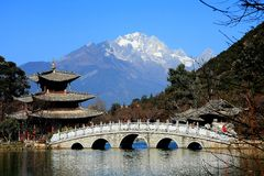 Lijiang ,Yunnan,China. The Black dragon pool,Shangri-la ,Lijiang ,Yunnan,China royalty free stock image