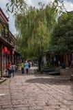 Lijiang, Yunnan Shuhe Antycznego miasteczka ulica Obraz Stock