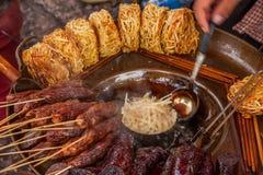 Lijiang, Yunnan Shuhe ulicy przekąski Zdjęcie Royalty Free