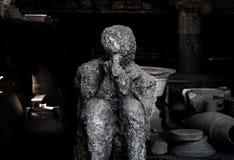 Lijk van Pompei wordt versteend dat royalty-vrije stock afbeelding