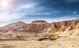 Lijktempel van Hatshepsut Stock Foto's