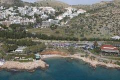 Lijn 02 van de Kust van Athene Stock Foto's