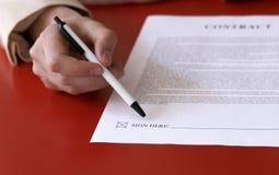 Lijn 1 van de handtekening Stock Foto's