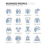 Lijn Bedrijfsmensenpictogrammen vector illustratie