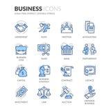 Lijn bedrijfspictogrammen vector illustratie