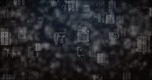 Lijn bewogen bureaupictogrammen vector illustratie