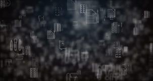 Lijn bewogen bureaupictogrammen royalty-vrije illustratie